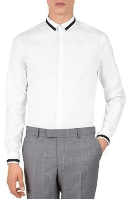 The Kooples Contrast-Trim Classic Fit Shirt