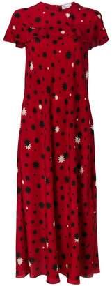 RED Valentino star print maxi dress