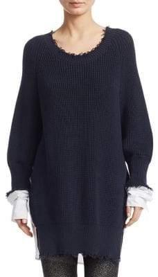 Alexander Wang Hybrid Knit Poplin Tunic