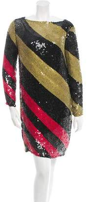 Sonia Rykiel Long Sleeve Sequined Dress w/ Tags