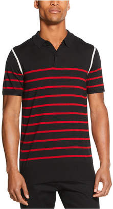 DKNY Men Colorblocked Stripe Sweater Polo Shirt