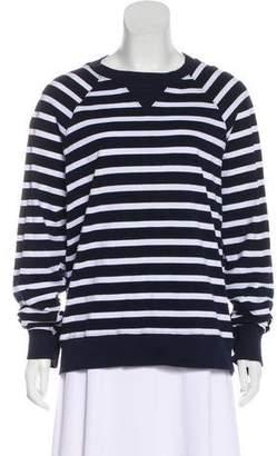 Bassike Striped Long-Sleeve Knit Sweater