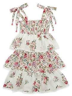 Zimmermann Kids Little Girl's & Girl's Honour Shirred & Tiered Floral Dress