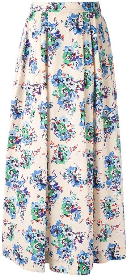 MSGM floral maxi skirt