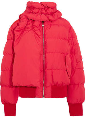 Magda Butrym - Starling Quilted Shell Down Jacket - Red