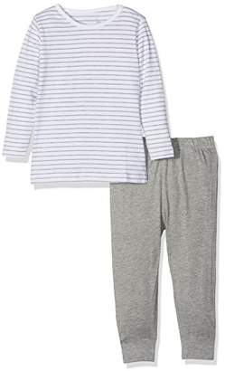 Name It Baby Girls' Nmfnightset Grey Mel Noos Pyjama Sets,12-18 Months