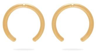Valentino Rockstud Hoop Drop Earrings - Womens - Gold