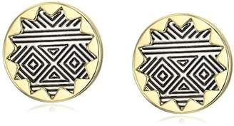 House Of Harlow Sunburst Button Stud Earrings