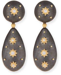 Buccellati 18k Macri Diamond Drop Earrings