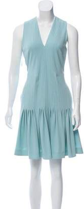 Burberry Pleated A-Line Dress