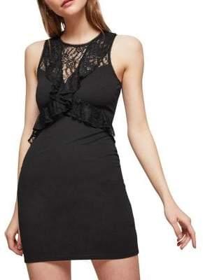 Miss Selfridge Lace Ruffle Bodycon Dress