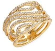 Nadri Goldtone Crystal Ring