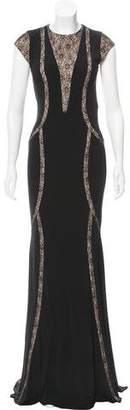 Jovani Lace-Trimmed Evening Dress w/ Tags