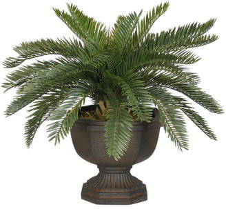 House of Silk Flowers Artificial Baby Cycas Palm Floor Plant in Urn