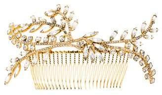 Jennifer Behr Embellished Gold-Tone Tiara