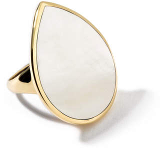 Ippolita 18k Teardrop Rock Candy Mother-of-Pearl Ring, Size 7