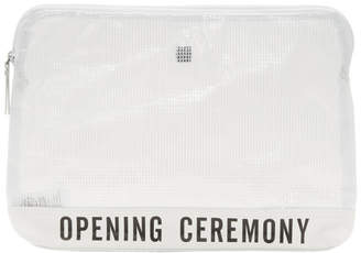 Opening Ceremony White Transparent PVC Pouch