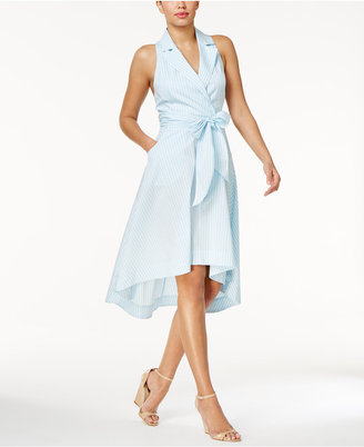 Marled Striped High-Low Wrap Dress $70 thestylecure.com
