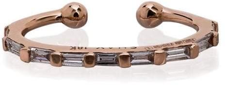 Shay 18k rose gold diamond ear cuff