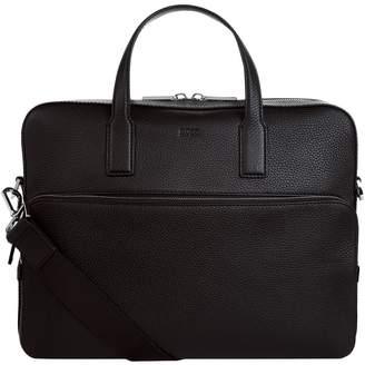 HUGO BOSS Leather Logo Briefcase