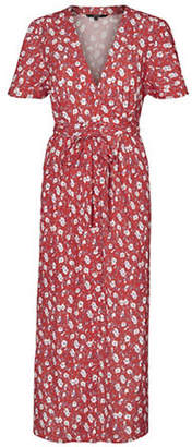 Vero Moda Molly Polly Floral Wrap Dress