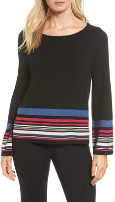 Vince Camuto Stripe Bell Sleeve Sweater