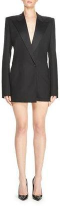 Saint Laurent Suiting Jacket Romper, Black $3,190 thestylecure.com
