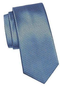 Ermenegildo Zegna Men's Stitch Jacquard Silk Tie