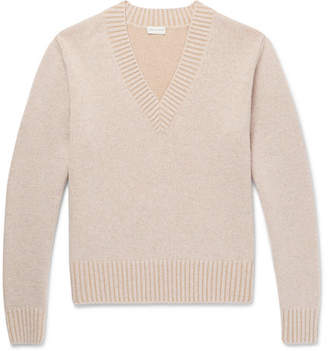 Dries Van Noten Mélange Wool And Cotton-Blend Sweater