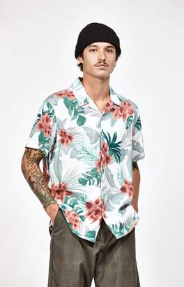 PacSun Soft Tropical Short Sleeve Button Up Camp Shirt
