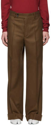 Maison Margiela Brown Wool Flannel Trousers