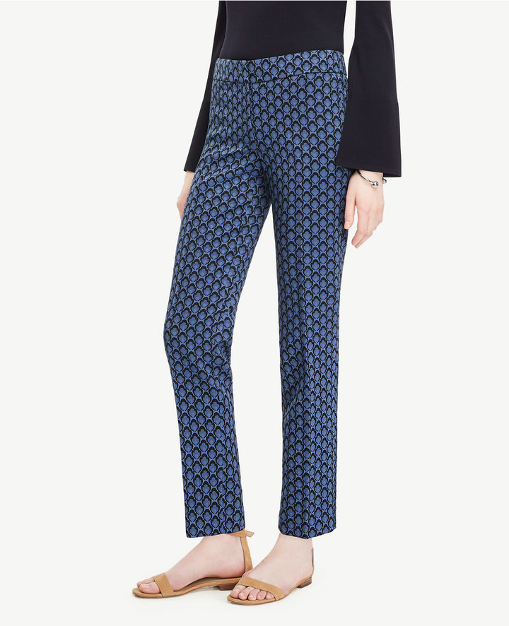 Ann Taylor The Tall Ankle Pant in Petal Jacquard - Devin Fit
