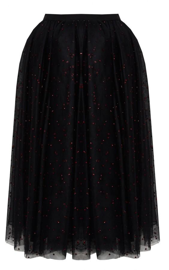 Alice + Olivia Taeyn Long Tulle Princess Skirt