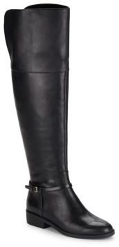 Valentia Leather Over-the-Knee Boots $430 thestylecure.com