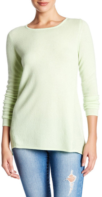 Kinross Swing Crew Cashmere Sweater
