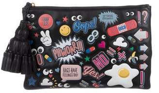 Anya Hindmarch Georgiana All Over Wink Stickers Clutch