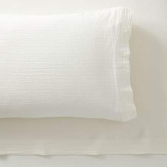Pottery Barn Teen Organic Crinkle Cotton Sheet Set, Extra Pillowcases, Set of 2, Ivory