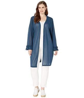 Junarose Plus Size Fluff Long Sleeve Cardigan