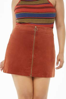 Forever 21 Plus Size Zip-Front Corduroy Skirt