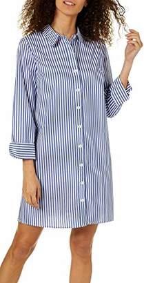 eccf67b3f65 MSK Women s Petite Long Sleeves Button Front Stripe Dress
