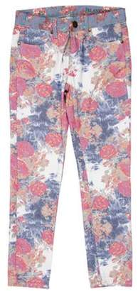 Blank NYC Mid-Rise Floral Jeans Pink Mid-Rise Floral Jeans