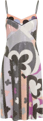 Emilio Pucci Abstract-Printed Sequin Dress