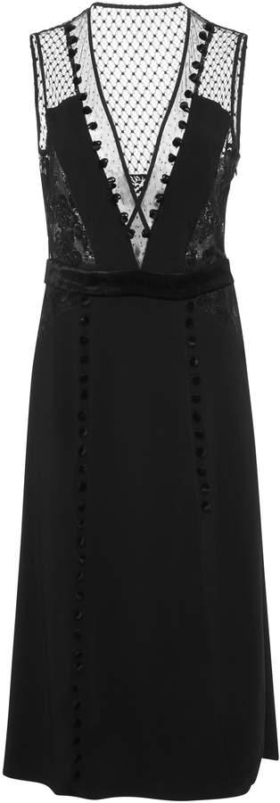 Harlow Deep V Neck Dress A.L.C. 1r36Tcd