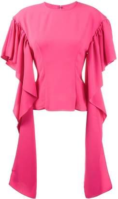 REJINA PYO Kara Blouse With Long Drape Sleeves