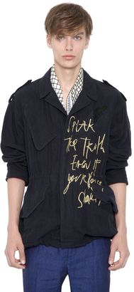 """The Truth"" Embroidered Linen Jacket $2,183 thestylecure.com"