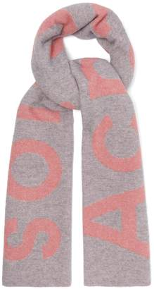 Acne Studios Toronto large bi-colour wool scarf