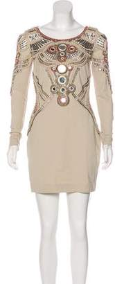Matthew Williamson Embellished Mini Dress