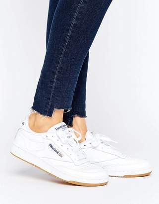 Reebok Club C 85 Sneakers With Gum Sole $91 thestylecure.com