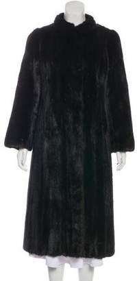 Oscar de la Renta Horizontal Mink Fur Coat