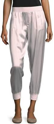 ATM Anthony Thomas Melillo Women's Striped Silk Pants